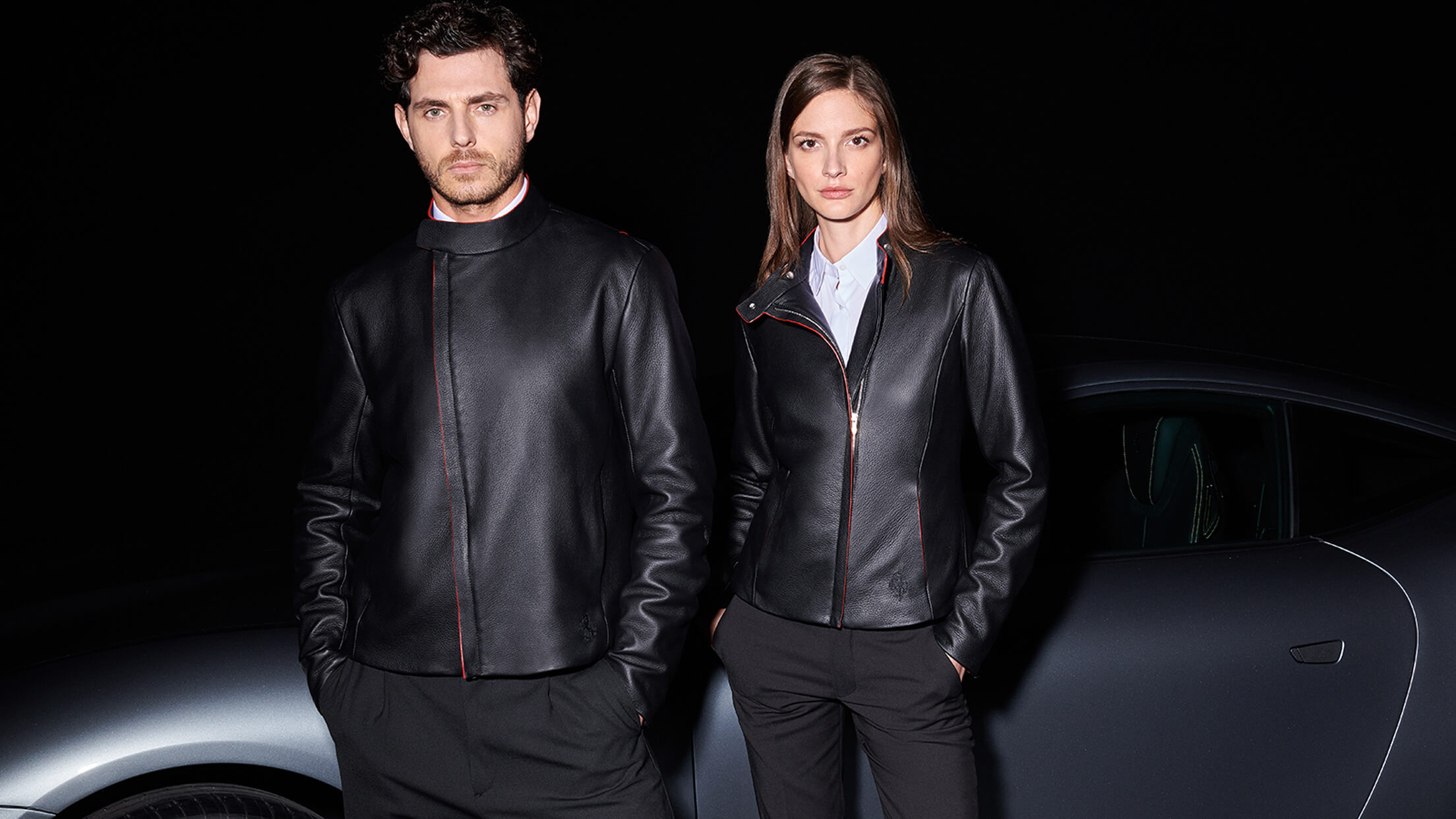 Scuderia Ferrari Collection - Men and women wearing Roma Driver Jacket