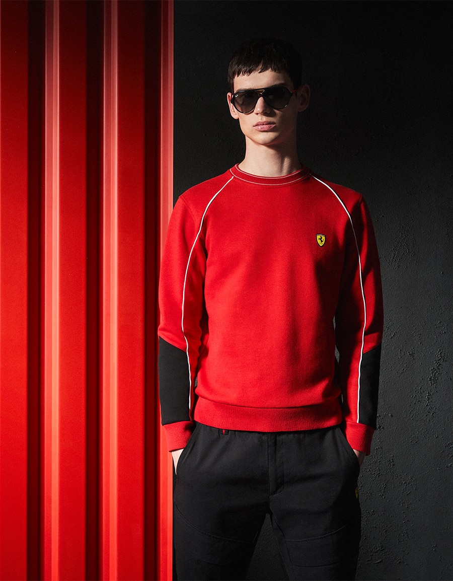 Scuderia Ferrari Collection - Men wearing red sweater