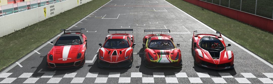 Two GT cars at the starting line